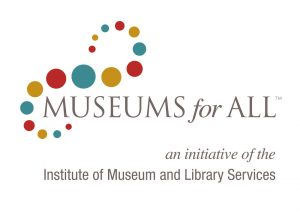Museums for All logo, an initiative of the Institute of Museum and Library Services